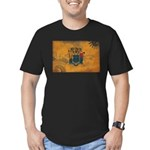 New Jersey Flag Men's Fitted T-Shirt (dark)