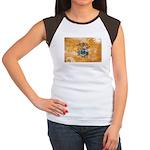 New Jersey Flag Women's Cap Sleeve T-Shirt