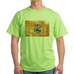 New Jersey Flag Green T-Shirt