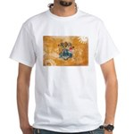 New Jersey Flag White T-Shirt