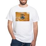 New Jersey Flag White T-Shirt