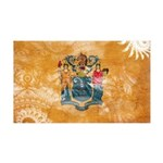New Jersey Flag 38.5 x 24.5 Wall Peel