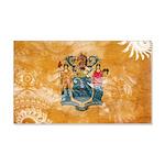 New Jersey Flag 22x14 Wall Peel