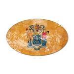 New Jersey Flag 38.5 x 24.5 Oval Wall Peel