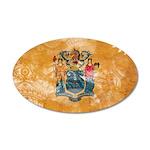 New Jersey Flag 22x14 Oval Wall Peel