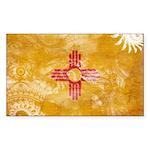 New Mexico Flag Sticker (Rectangle 50 pk)
