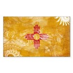 New Mexico Flag Sticker (Rectangle)