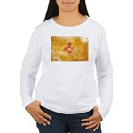 New Mexico Flag Women's Long Sleeve T-Shirt