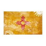 New Mexico Flag 38.5 x 24.5 Wall Peel