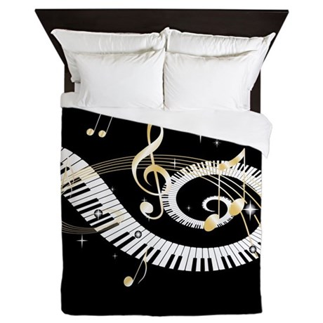 Music note bedding - Music notes comforter ...
