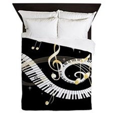 designer Musical notes Queen Duvet