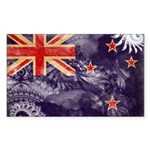 New Zealand Flag Sticker (Rectangle 10 pk)