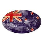 New Zealand Flag Sticker (Oval)