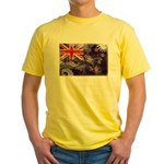 New Zealand Flag Yellow T-Shirt