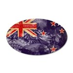 New Zealand Flag 22x14 Oval Wall Peel