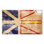 Newfoundland Flag Sticker (Rectangle 10 pk)