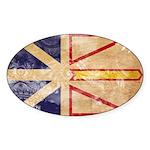 Newfoundland Flag Sticker (Oval 50 pk)