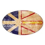 Newfoundland Flag Sticker (Oval)