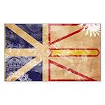 Newfoundland Flag Sticker (Rectangle)