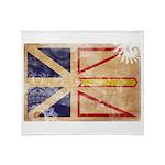 Newfoundland Flag Throw Blanket