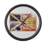 Newfoundland Flag Large Wall Clock