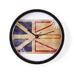 Newfoundland Flag Wall Clock