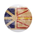 Newfoundland Flag Ornament (Round)