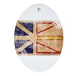 Newfoundland Flag Ornament (Oval)