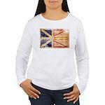 Newfoundland Flag Women's Long Sleeve T-Shirt