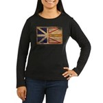 Newfoundland Flag Women's Long Sleeve Dark T-Shirt