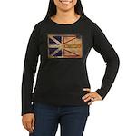 Newfoundland Flag Women's Long Sleeve Dark T-Shirt