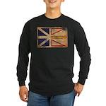 Newfoundland Flag Long Sleeve Dark T-Shirt