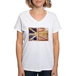 Newfoundland Flag Women's V-Neck T-Shirt