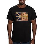 Newfoundland Flag Men's Fitted T-Shirt (dark)