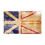 Newfoundland Flag 38.5 x 24.5 Wall Peel