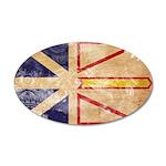 Newfoundland Flag 22x14 Oval Wall Peel