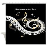 Music notes Shower Curtains