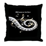 designer Musical notes Throw Pillow