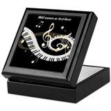 designer Musical notes Keepsake Box