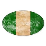 Nigeria Flag Sticker (Oval)