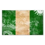 Nigeria Flag Sticker (Rectangle)