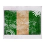 Nigeria Flag Throw Blanket
