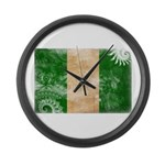 Nigeria Flag Large Wall Clock