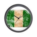 Nigeria Flag Wall Clock