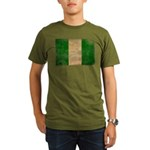 Nigeria Flag Organic Men's T-Shirt (dark)