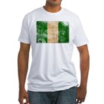 Nigeria Flag Fitted T-Shirt