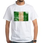 Nigeria Flag White T-Shirt
