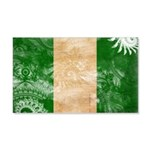 Nigeria Flag 22x14 Wall Peel