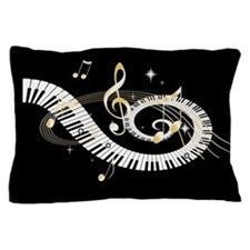 designer Musical notes Pillow Case