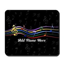 Personalized Rainbow Musical Mousepad